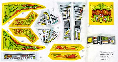 Battle Ram Sticker Sheet Masters Of The Universe Shelflife