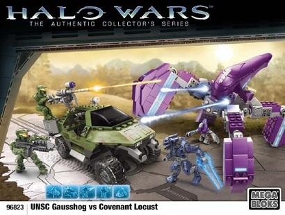Unsc Gausshog Vs Covenant Locust Instructions Mega Bloks Shelflife