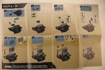 UNSC Cryo Bay Instructions - Mega Bloks   ShelfLife